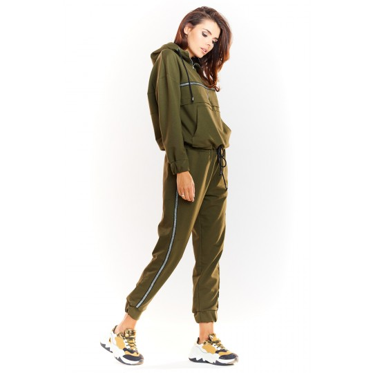 Spodnie Dresowe Model M231 Khaki - Infinite You