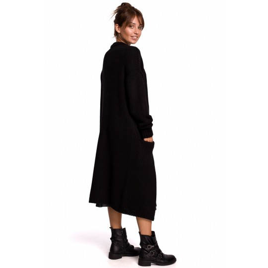 Sweter Kardigan Model BK053 Black - BE Knit