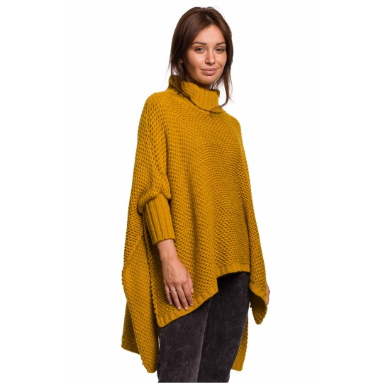 Sweter Ponczo Model BK049 Honey - BE Knit