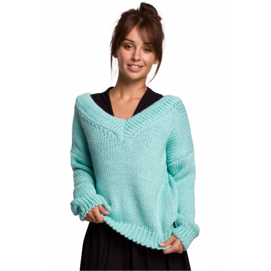 Sweter Damski Model BK046 Mint - BE Knit